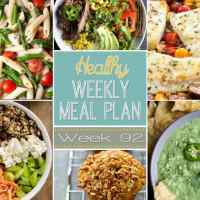 Healthy Weekly Meal Plan Week 92
