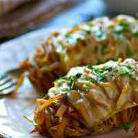 Hasselback French Onion Soup Baked Potatoes