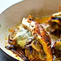 Caramelized Onion Mushroom Swiss Stuffed Chicken Breasts