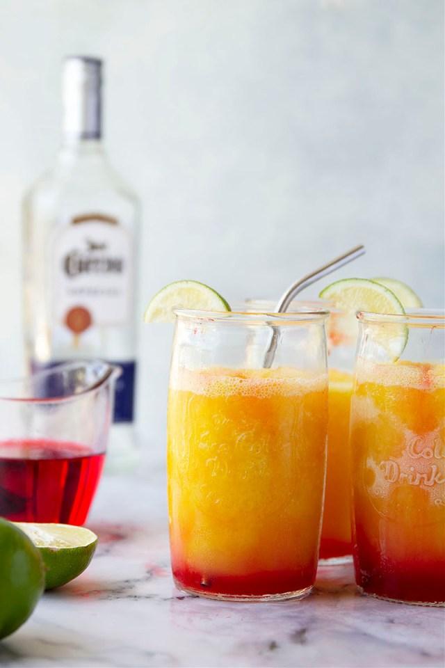Tequila Sunrise Slushies