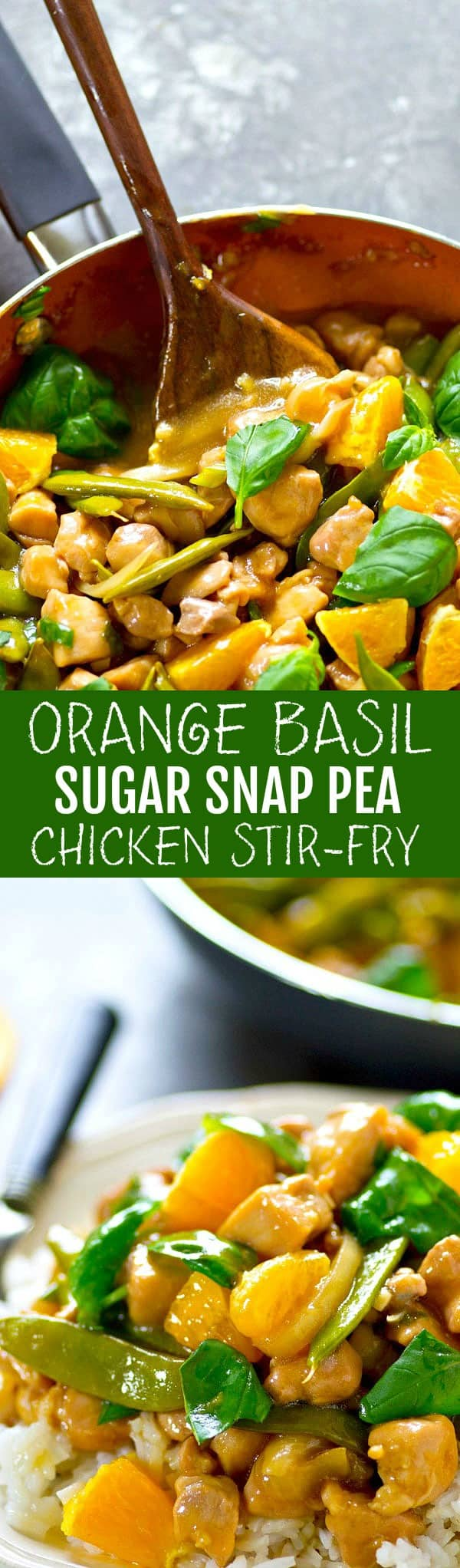 Tangy orange and flavorful basil are a game-changing combo in this sweet, saucy sugar snap pea chicken stir-fry! Add this winner to your stir-fry rotation.