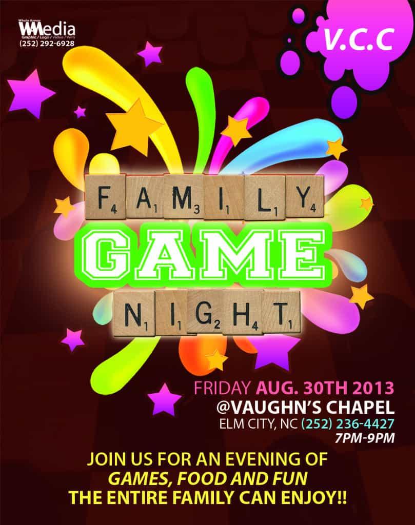 Family Game Night Flyer Design