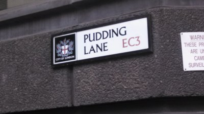 Location where Great Fire of London began