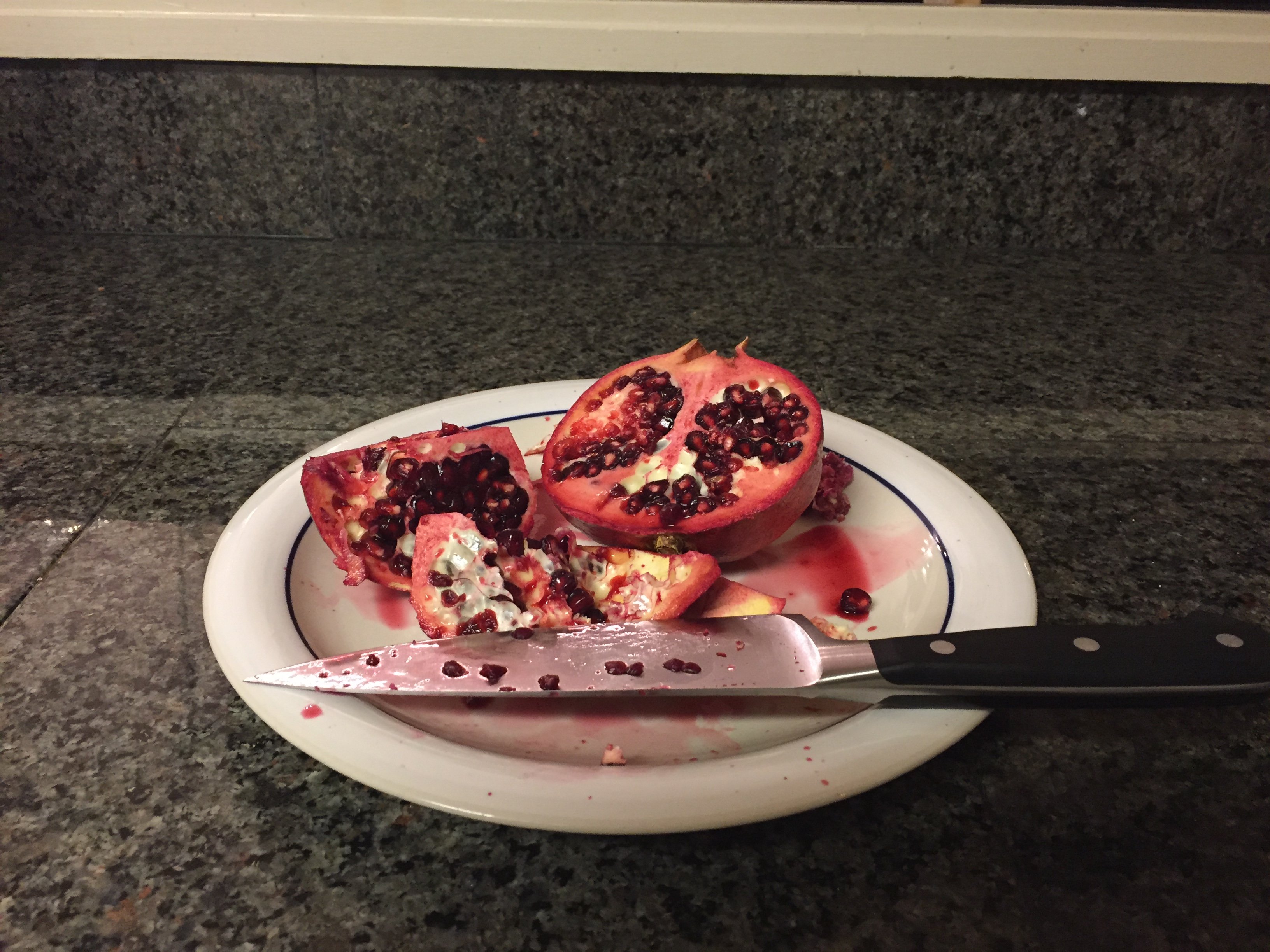 Eating a Pomegranate