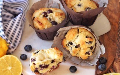 Paleo Blueberry Lemon Scone or Muffins