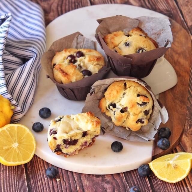 Paleo Blueberry Lemon Scone or Muffins
