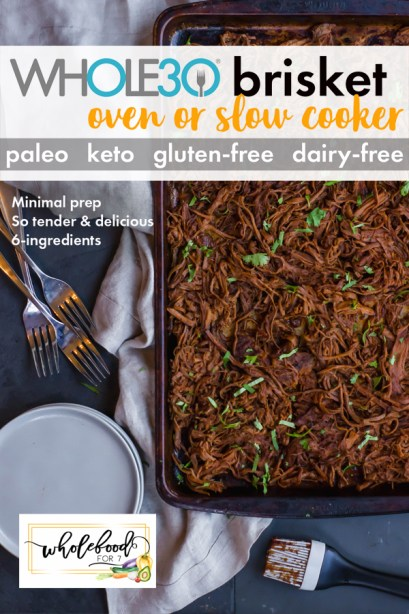 Whole30 Brisket - Paleo, Keto, gluten-free, dairy-free, easy, 6-ingredients and always a favorite!