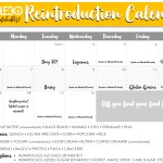 Whole30 Reintroduction Calendar + Tracker
