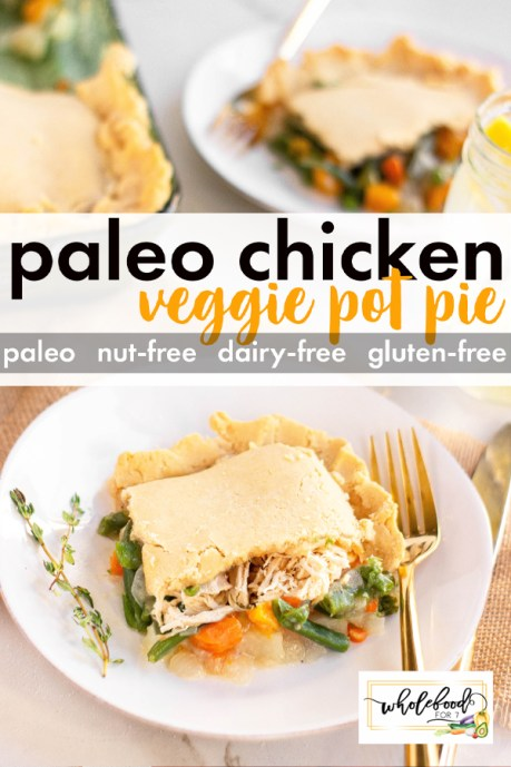 Paleo Chicken Pot Pie - Gluten-free, dairy-free, nut-free and a family favorite. Freezes great too!