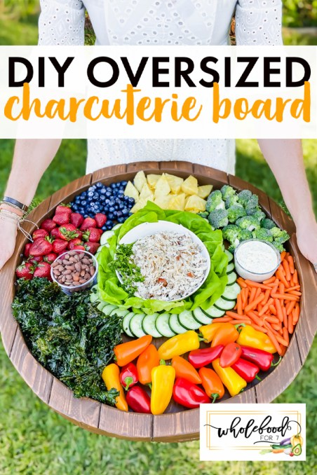 DIY Oversized Charcuterie Board - A real person's approach to making a more affordable large board