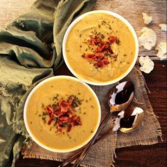 Whole30 Cauliflower Soup - Keto, Paleo, gluten-free, dairy-free, instant pot or stove