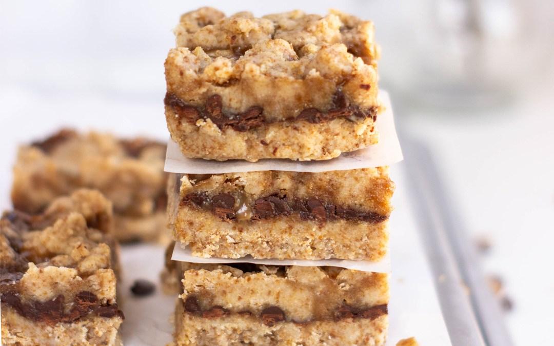 Paleo Chocolate Caramel Cookie Bars