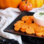 Easy Whole30 Pumpkin Carrots and Ranch - Paleo, gluten-free, dairy-free, easy and kid-friendly!