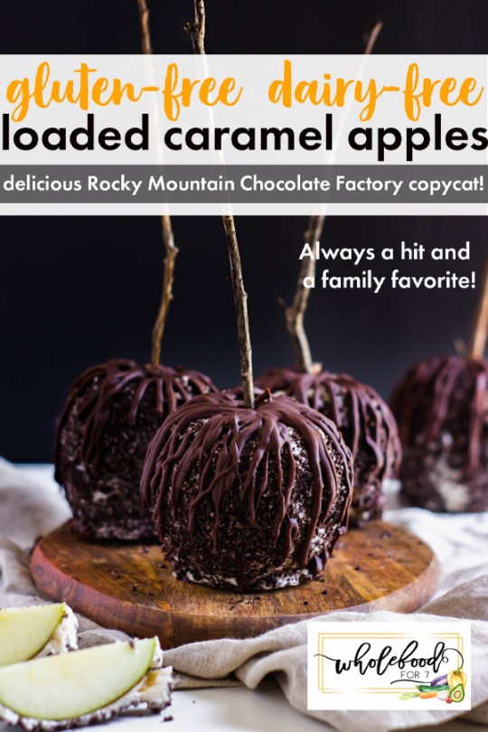 Loaded Caramel Apples - Gluten-free, dairy-free. Decadant but easy to make, a great teacher or neighbor gift!