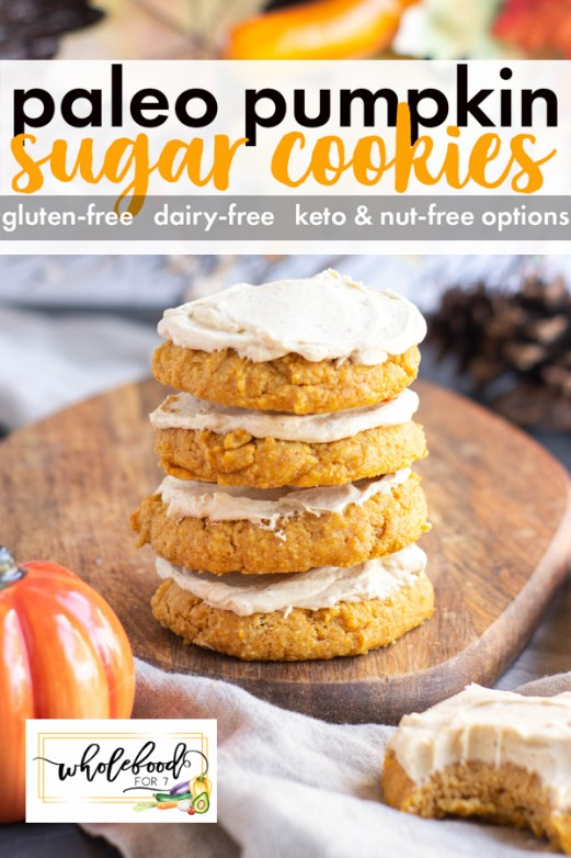 Paleo Pumpkin Sugar Cookies - Gluten-free, dairy-free. Perfect fall treat!