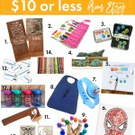 Gift Guide for Kids $10 or Under from Etsy