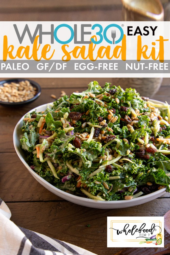 Whole30 Kale Salad Kit - Paleo, gluten-free, dairy-free, easy!