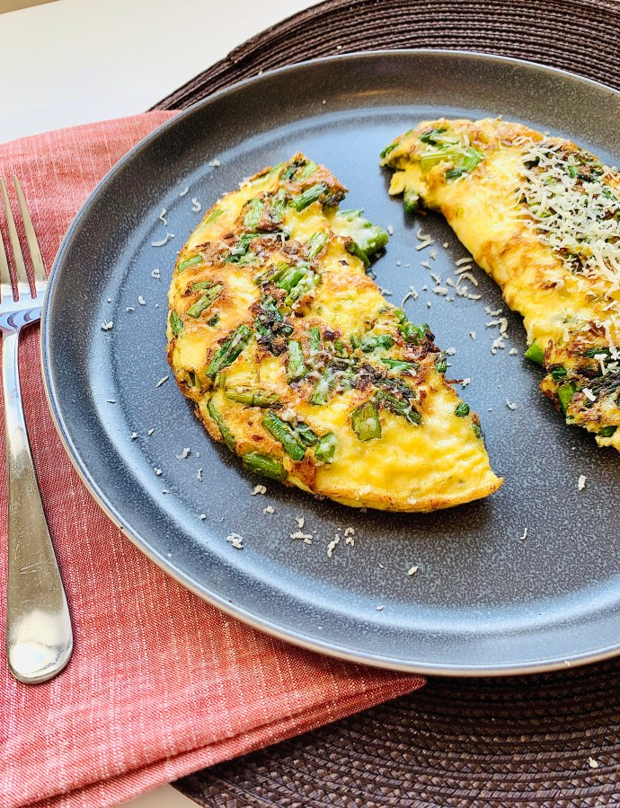 Cheddar and Asparagus Omelet