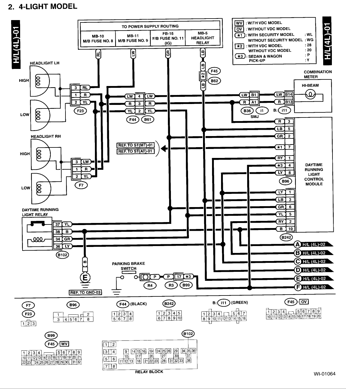 Subaru Legacy Electrical Diagram