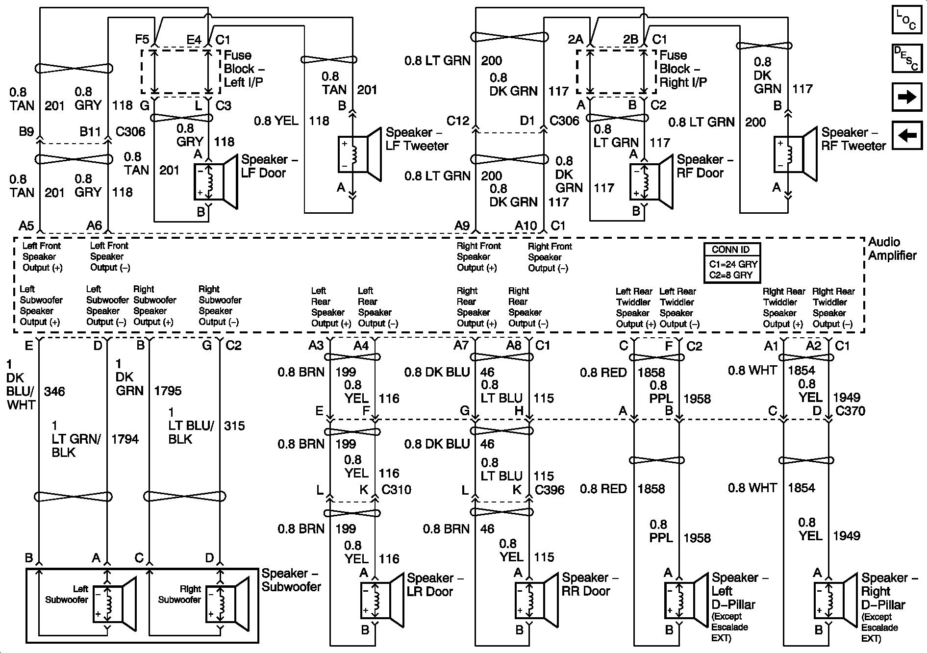 Cadillac Escalade Bose Stereo Wiring Diagram Sample