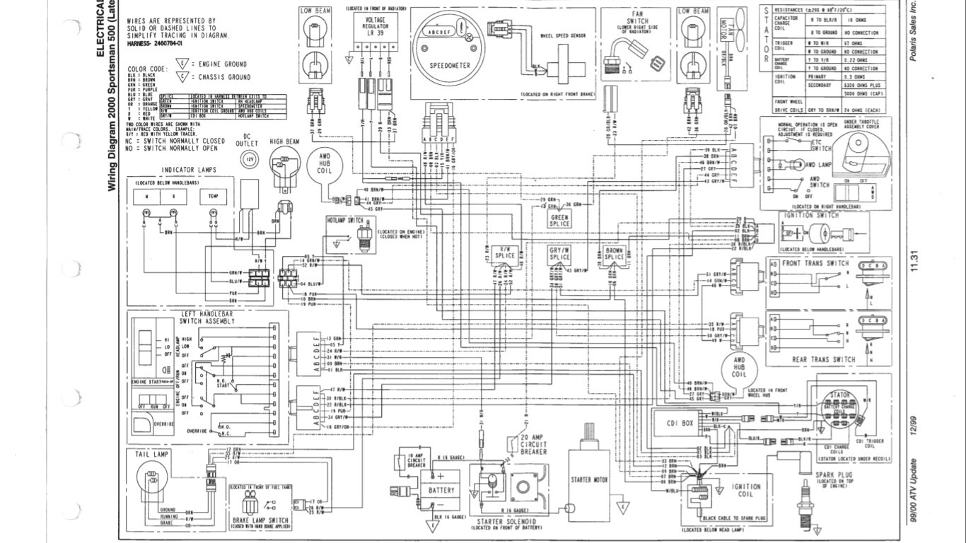 Polaris Sportsman 500 Electrical Diagram