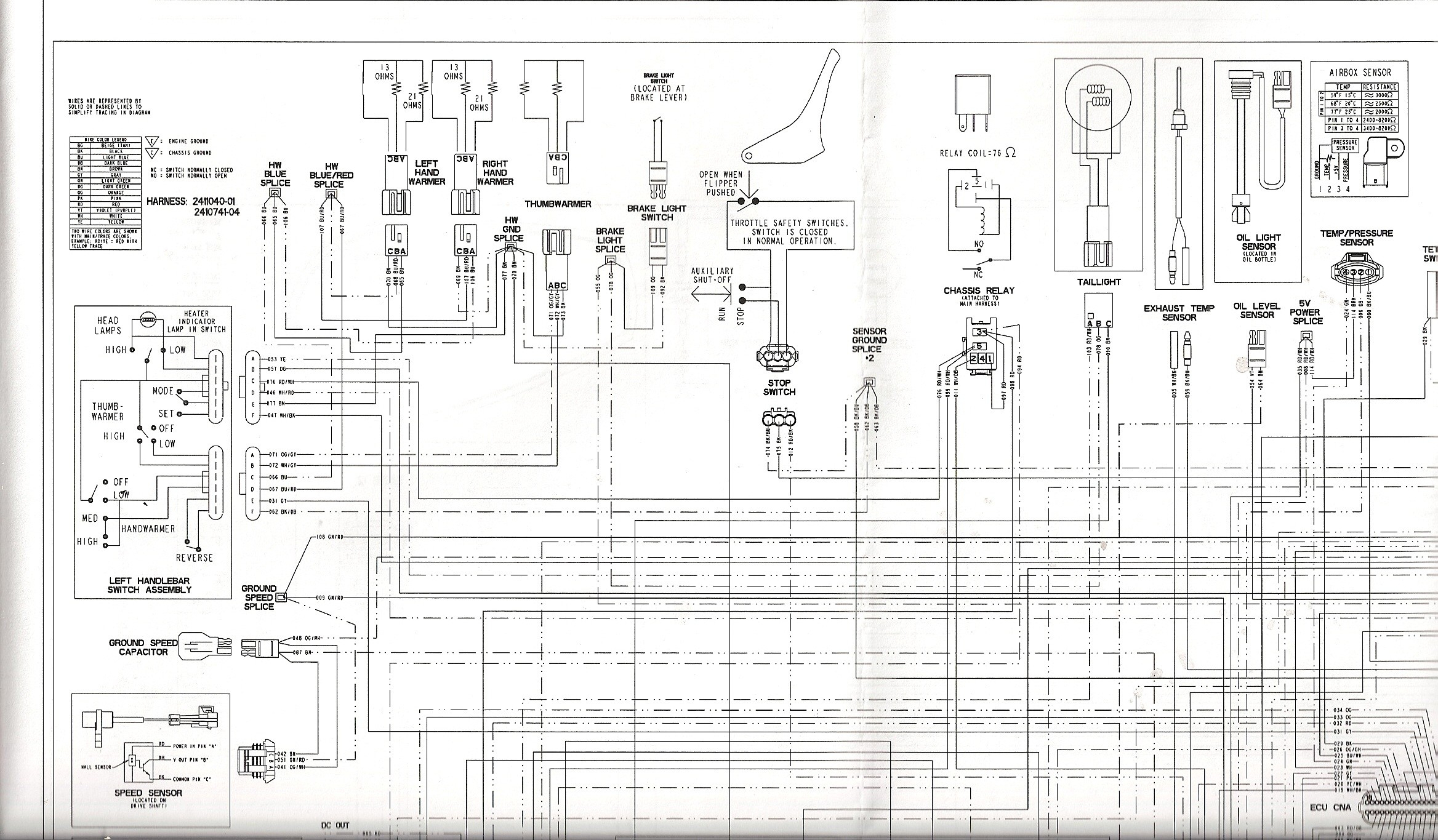 2007 polari outlaw 90 wiring diagram