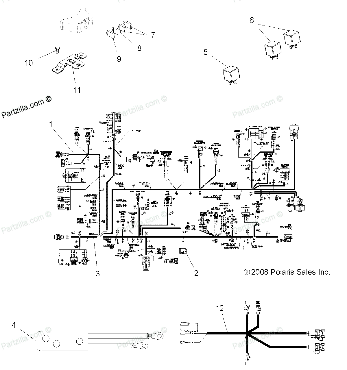 Wiring Diagram Polaris 400