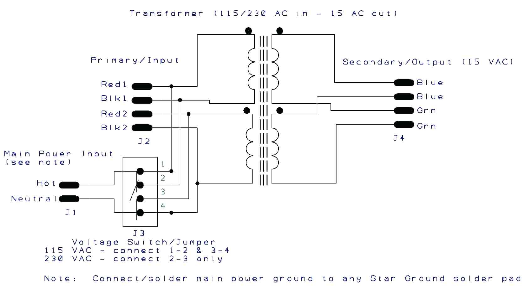 Toroidal Transformer Wiring Diagram