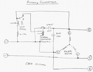 3 Phase Rotary Converter Wiring Diagram Download