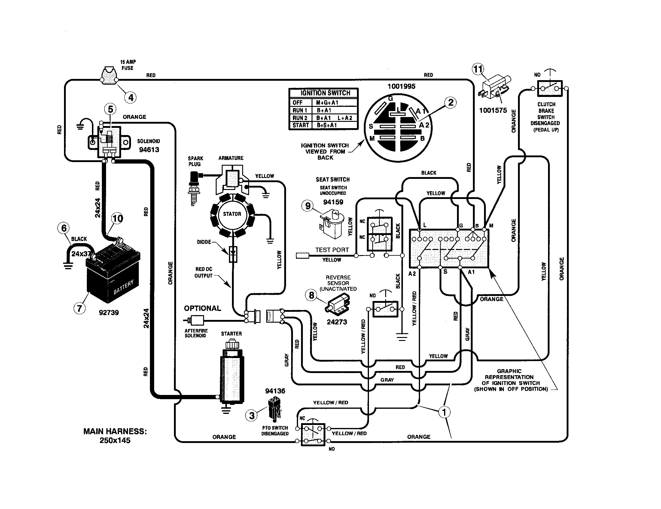 wiring diagram 1477 bolens wiring diagram  bolens g11 1155 wiring diagram #10