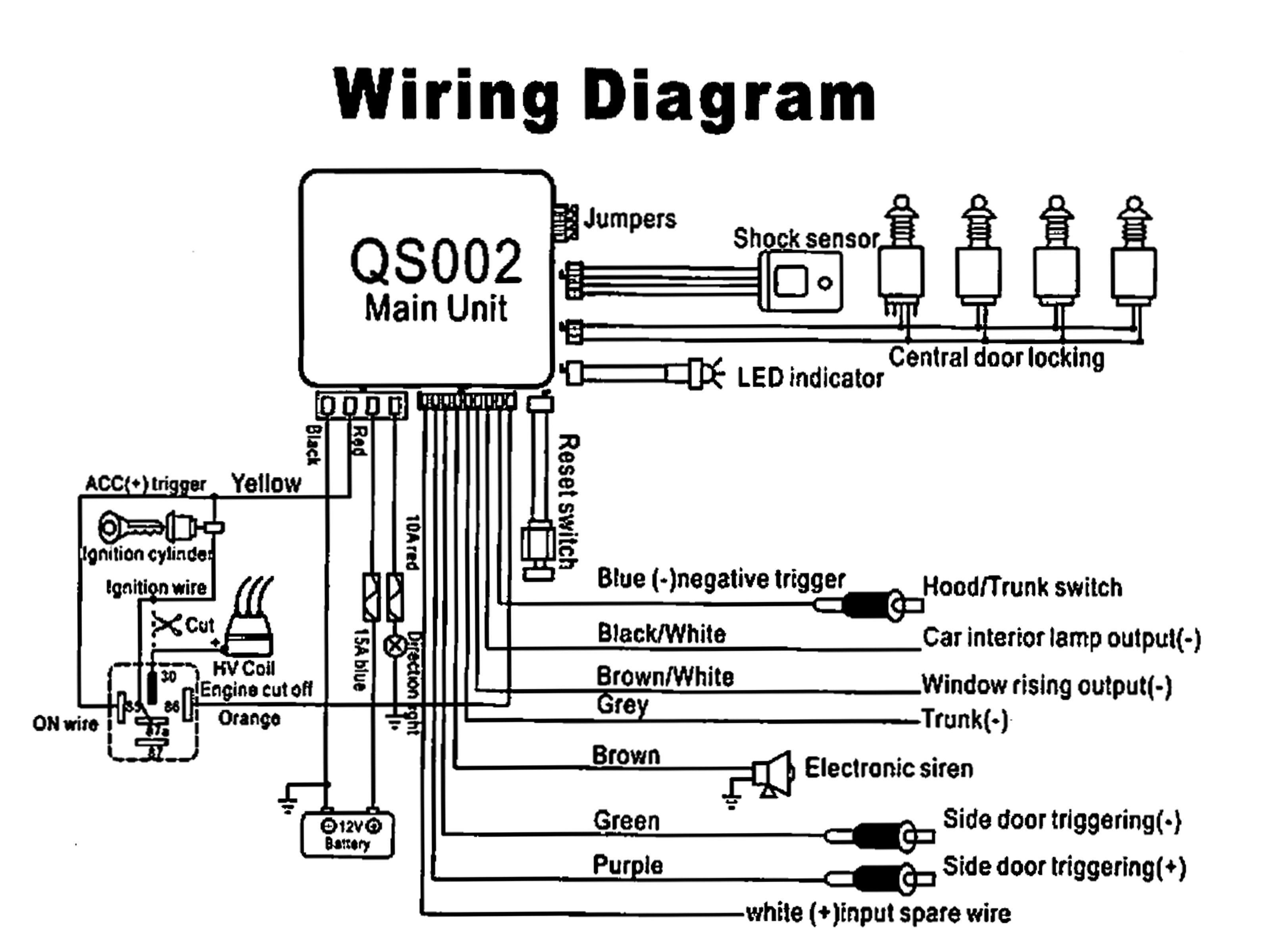 Diagram Wiring Diagram Of Car Alarm Full Version Hd