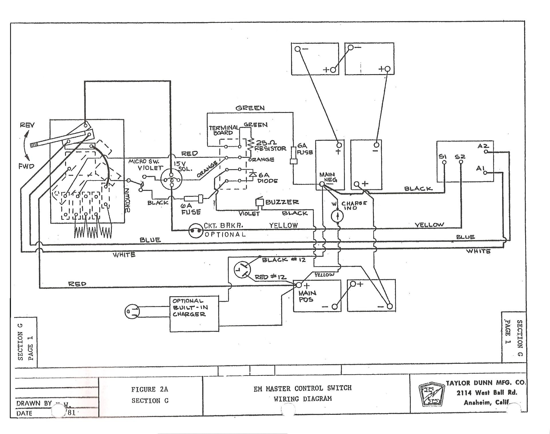 Old Yamaha Golf Cart Wiring Diagram For on
