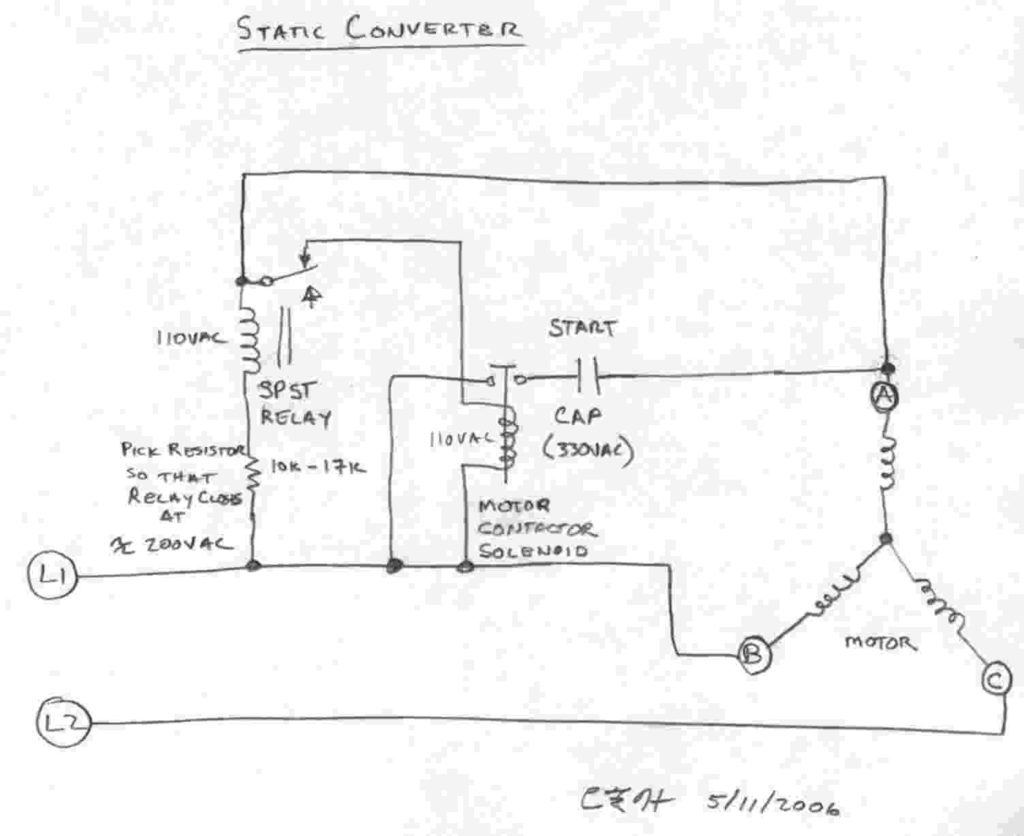 Rotary Phase Converter Wiring Diagram Download