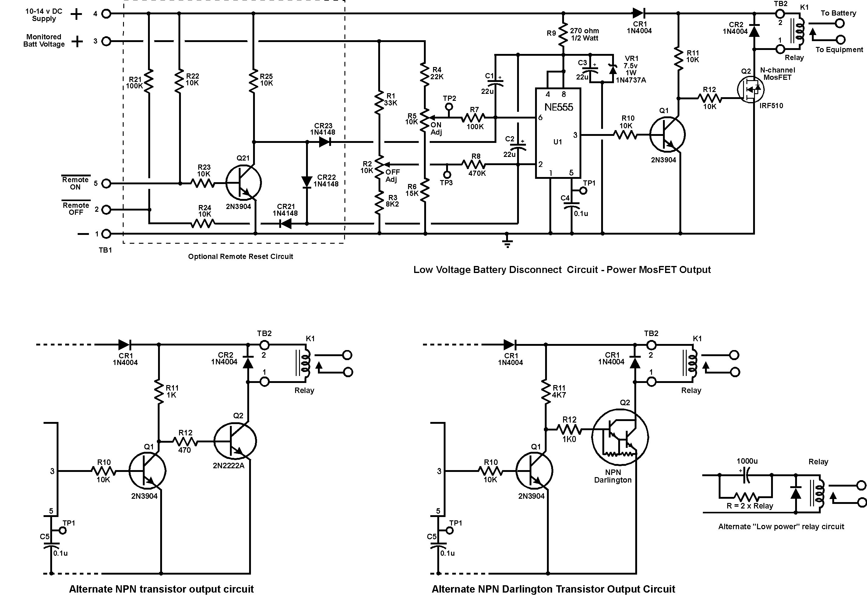 Dc Relay Schematic
