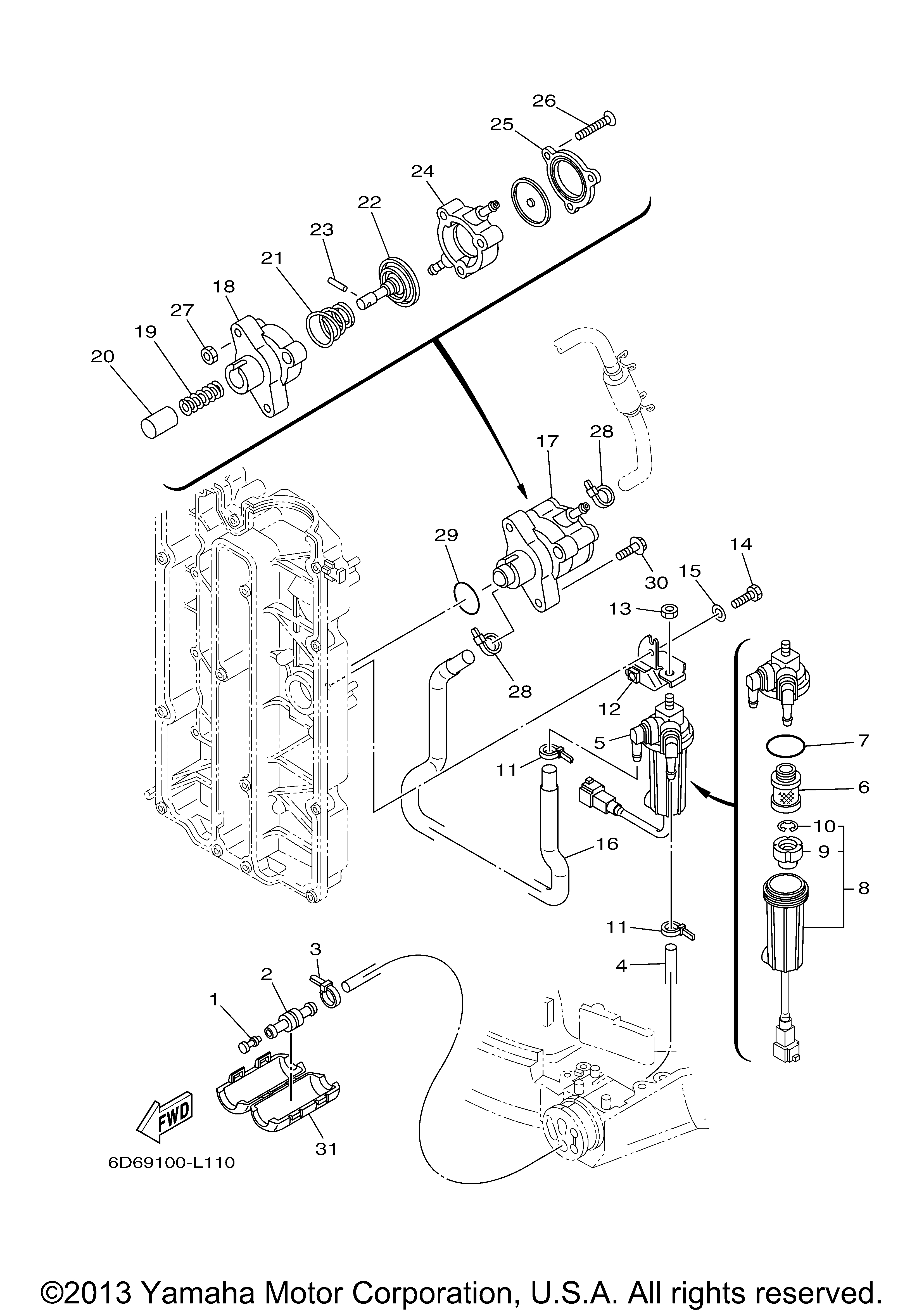 Diagram Of Yamaha Outboard Motor