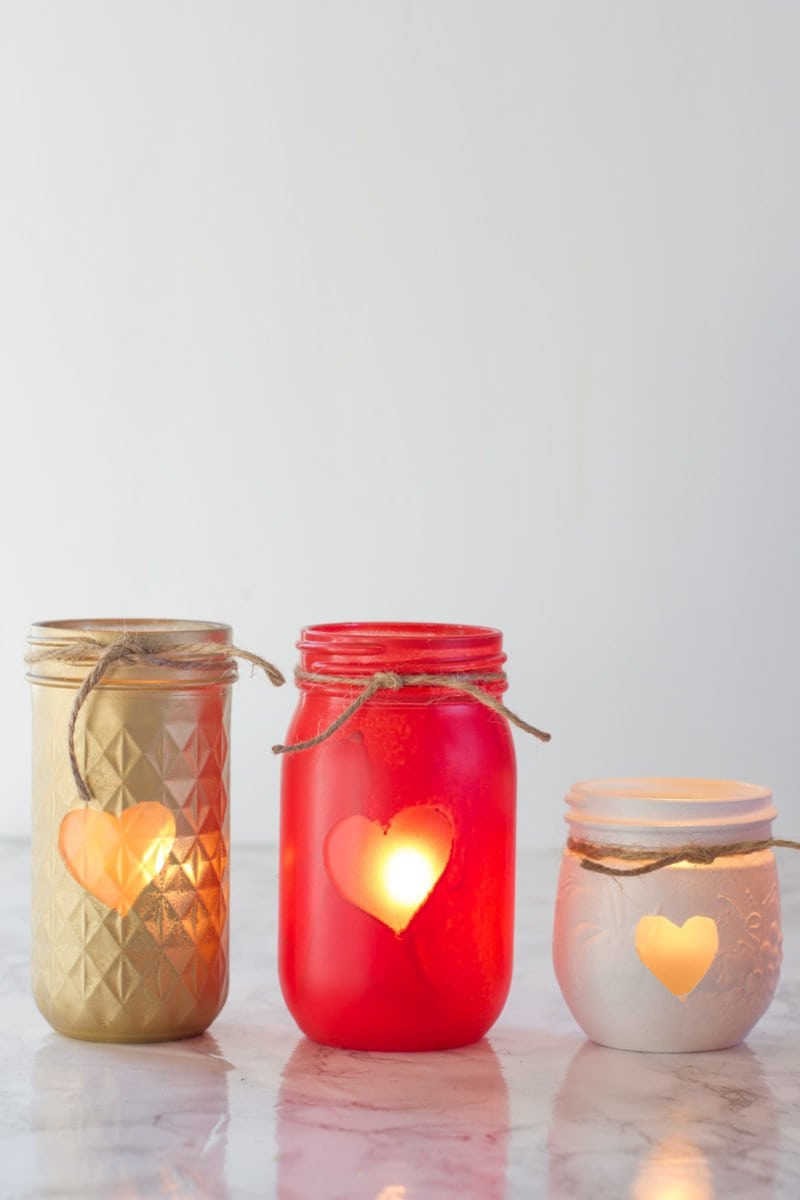 Painted Mason Jar Votive Holders Wholefully