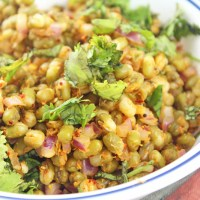 Sprouted Mung Beans Salad(Hesarakalu Usli/Sundal)