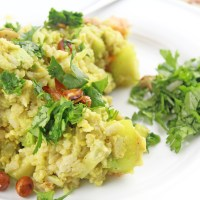 Avocado Poha Chaat