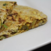 Moong Dal And Onions Stuffed Indian Flatbread or Paratha