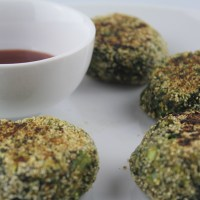 Spinach, bell pepper patties (No Potatoes/Eggs) - Hara Bhara Kababs