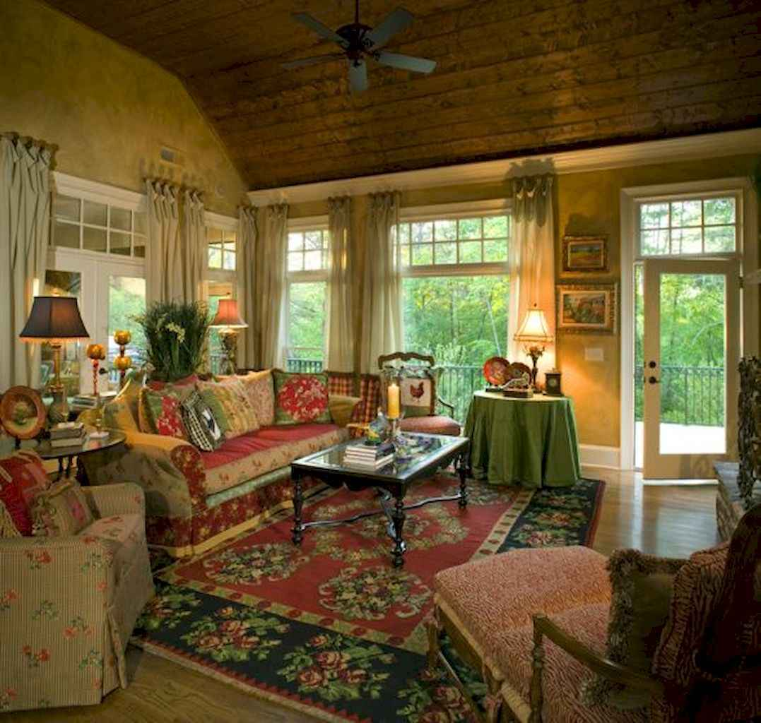 inspiring country style living room colors | 75 Fancy French Country Living Room Design Ideas ...