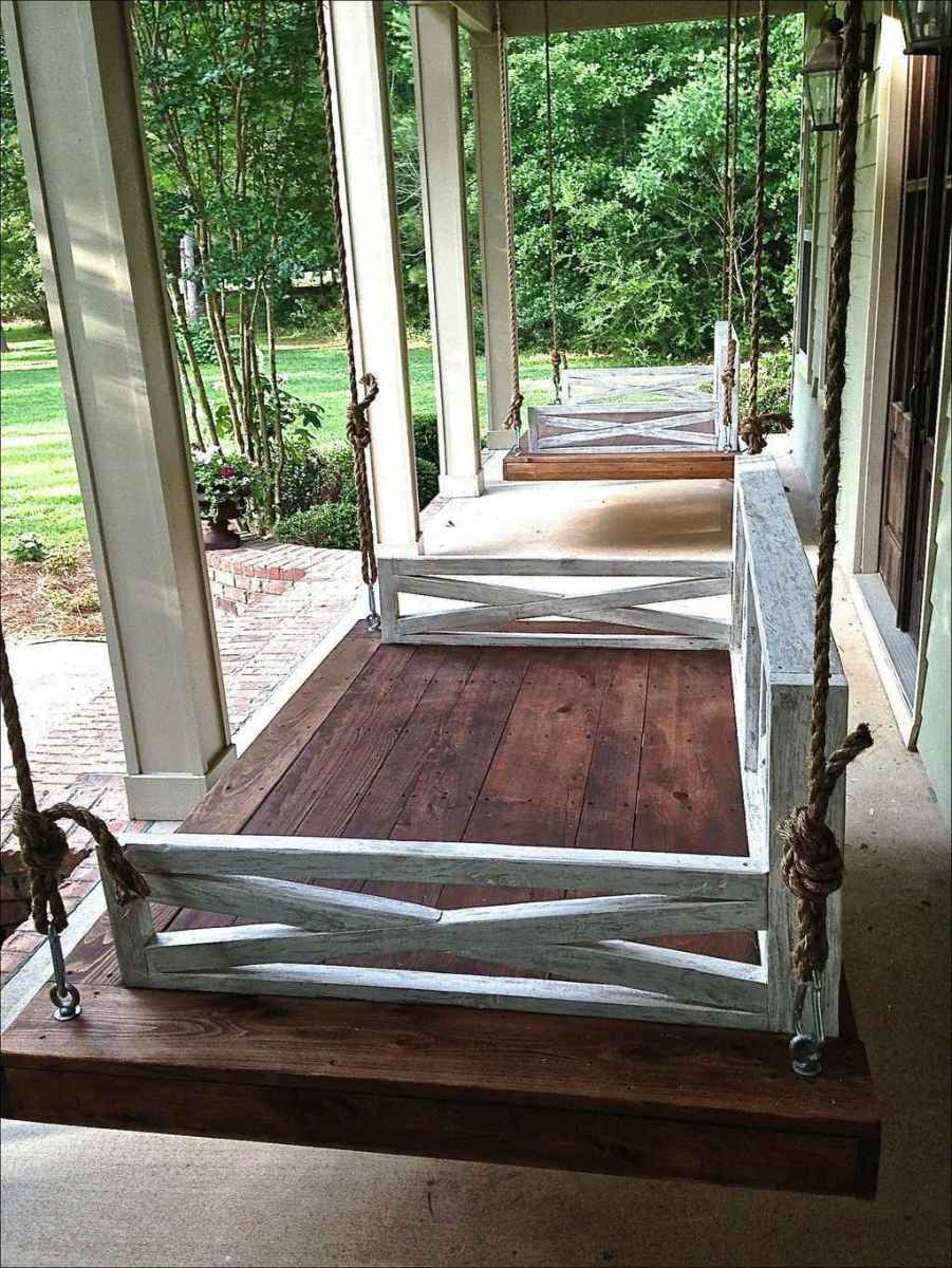09 hang relaxing front porch swing decor ideas