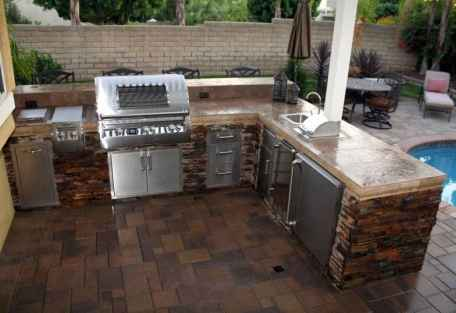 35 best outdoor kitchen and grill for summer backyard ideas