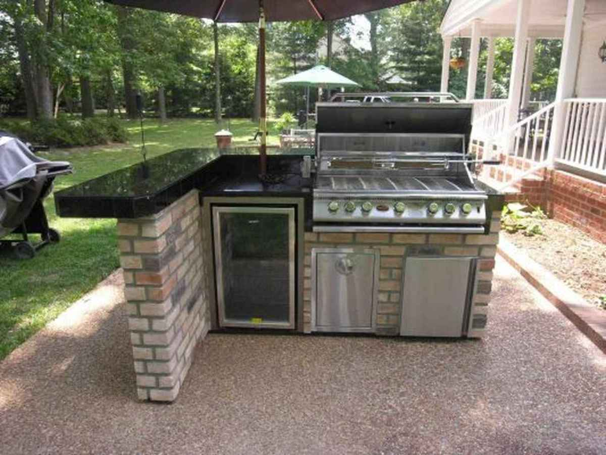 37 best outdoor kitchen and grill for summer backyard ideas