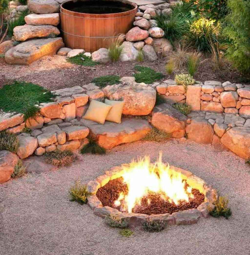 56 awesome outdoor fire pit seating design ideas for backyard