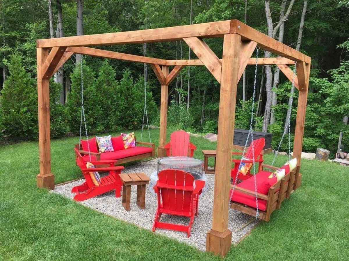 58 awesome outdoor fire pit seating design ideas for backyard