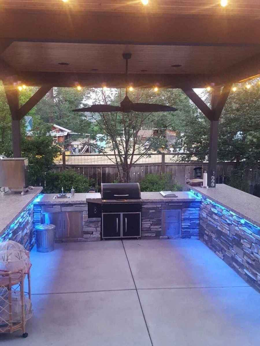 69 best outdoor kitchen and grill for summer backyard ideas