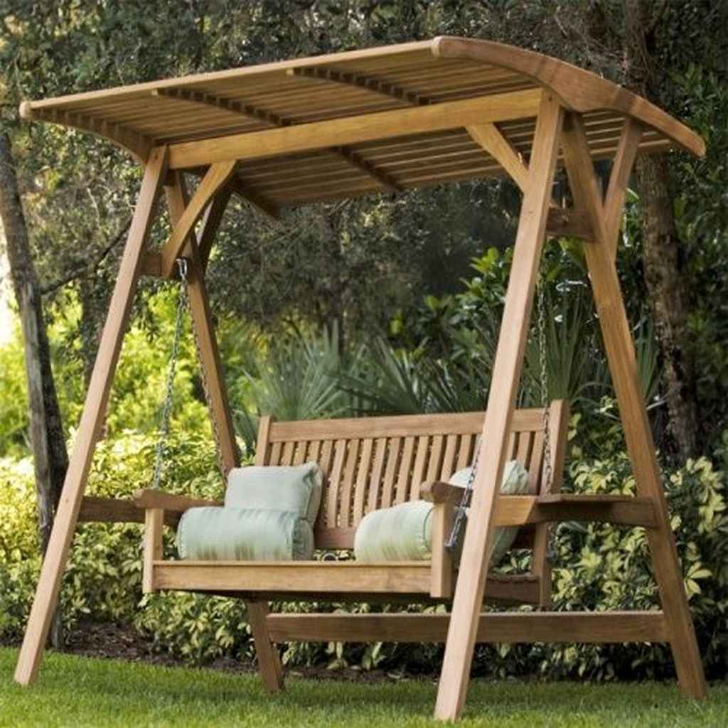 76 amazing backyard ideas with garden swing seats for summer