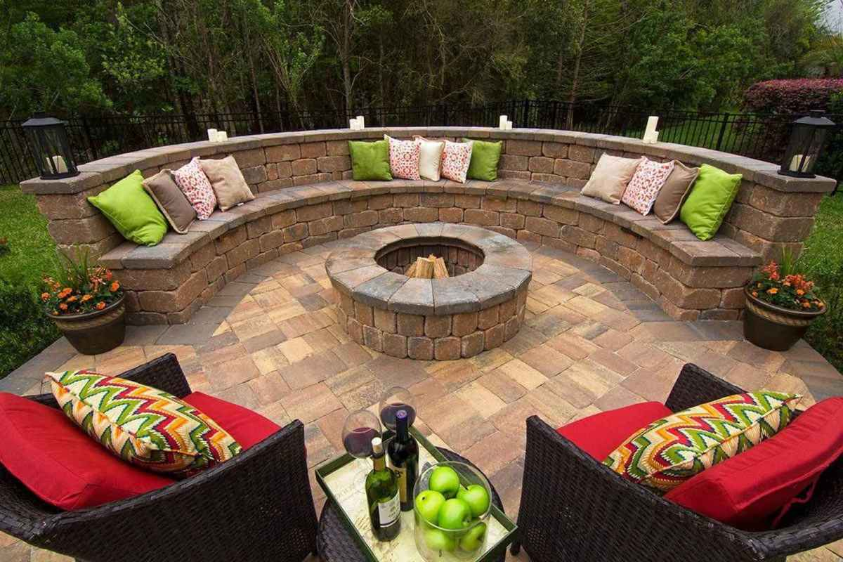 77 awesome outdoor fire pit seating design ideas for backyard