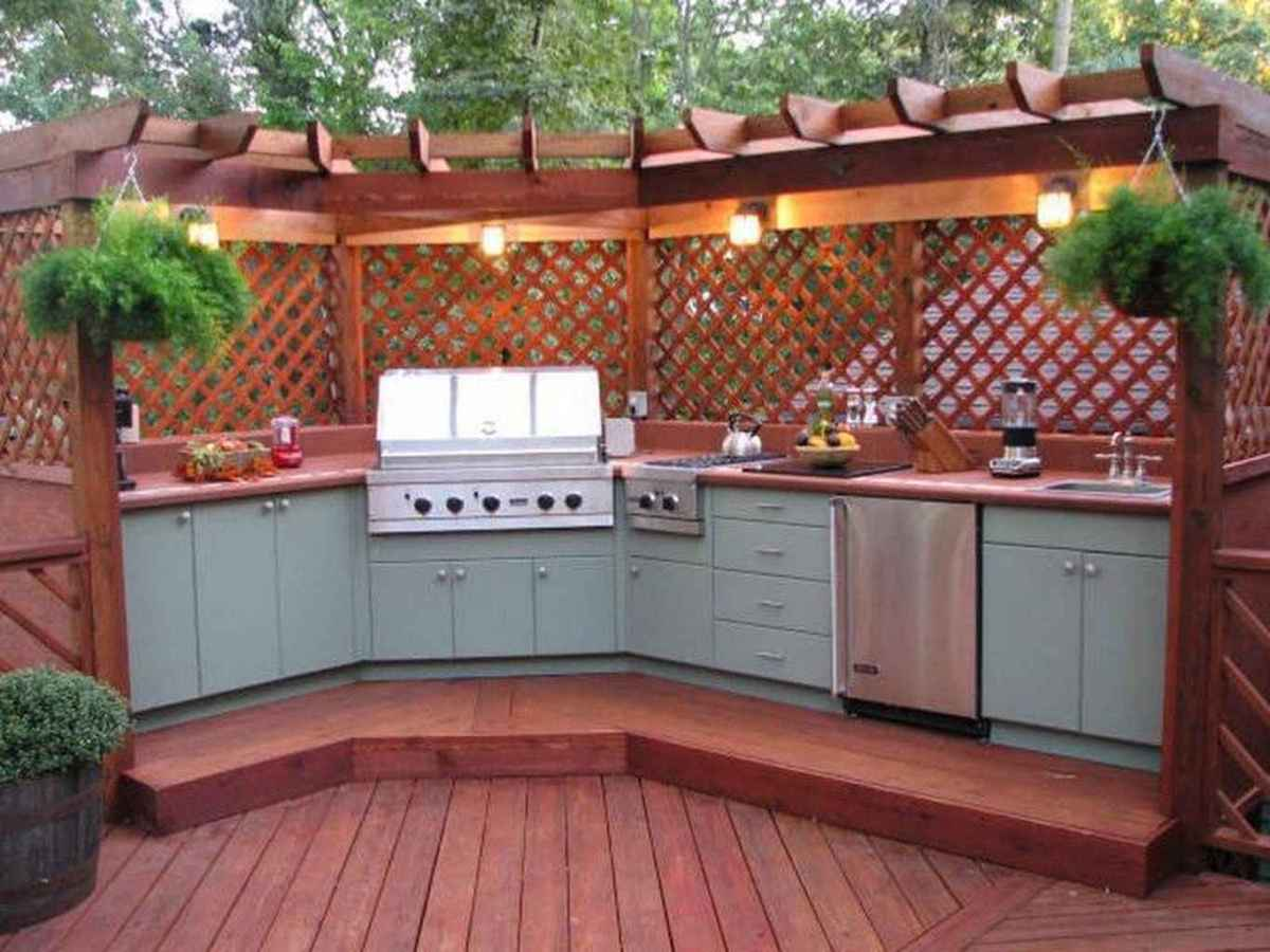 78 best outdoor kitchen and grill for summer backyard ideas